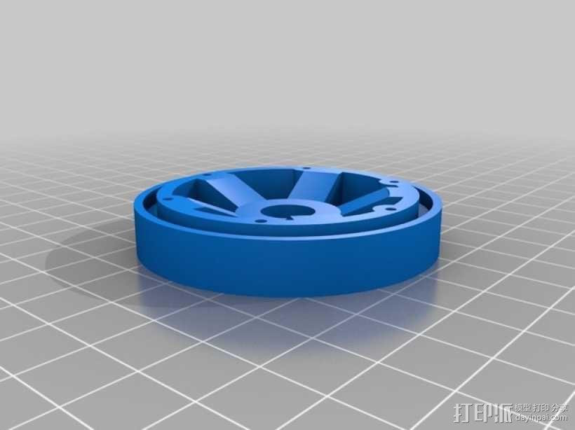 Axial SCX10 和Wraith的1.9夹片锁胎  12mm Hex 3D模型  图2