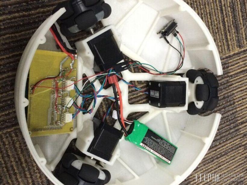 全方位滑轮机器人 3D模型  图1