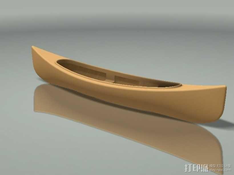 加拿大独木舟 3D模型  图1