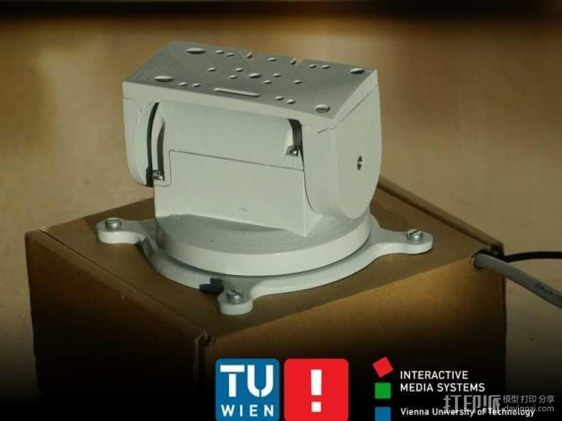 摄像头和小型DSLR的360度轮盘和倾斜头 3D模型  图1