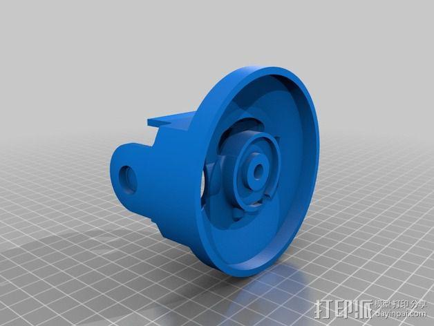 摄像头和小型DSLR的360度轮盘和倾斜头 3D模型  图5