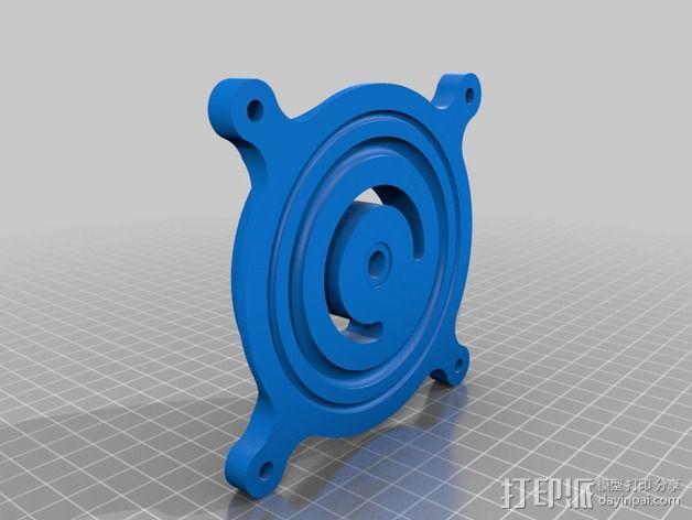 摄像头和小型DSLR的360度轮盘和倾斜头 3D模型  图6