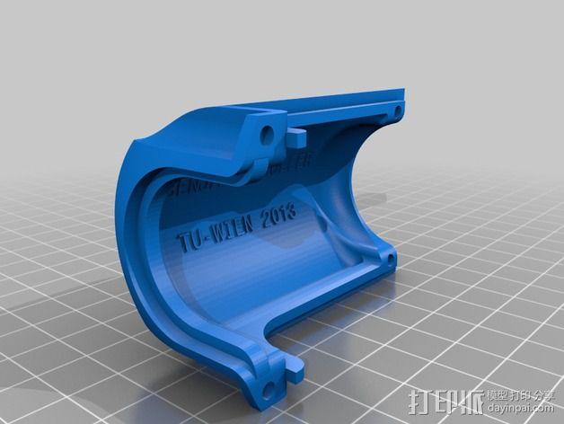 摄像头和小型DSLR的360度轮盘和倾斜头 3D模型  图7