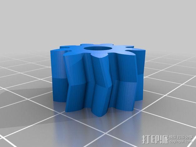 摄像头和小型DSLR的360度轮盘和倾斜头 3D模型  图10