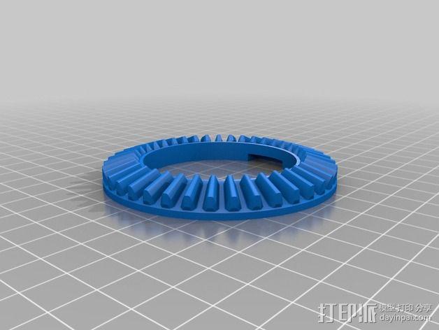 摄像头和小型DSLR的360度轮盘和倾斜头 3D模型  图9