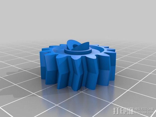 摄像头和小型DSLR的360度轮盘和倾斜头 3D模型  图11