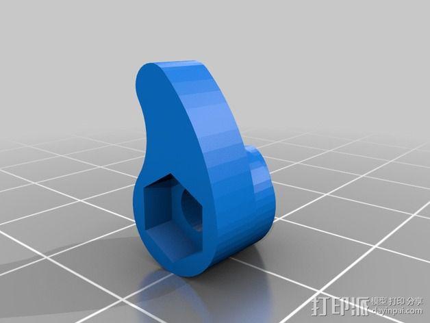 摄像头和小型DSLR的360度轮盘和倾斜头 3D模型  图13