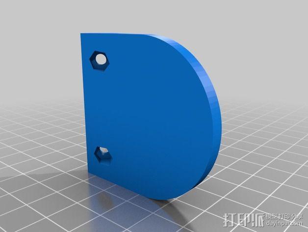 摄像头和小型DSLR的360度轮盘和倾斜头 3D模型  图15