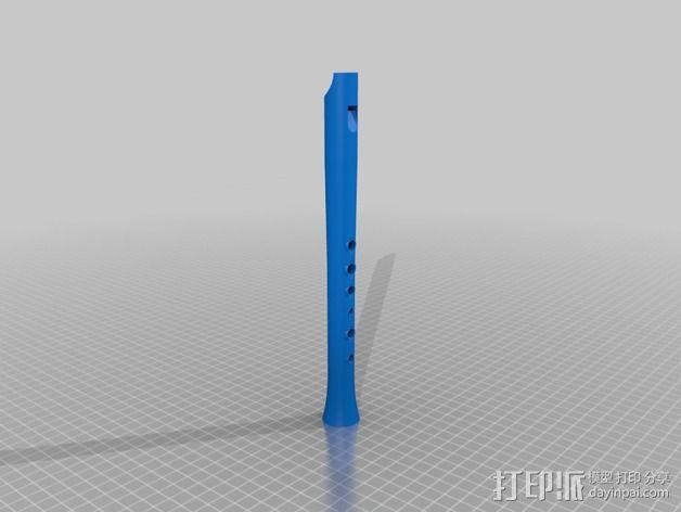 高,中,低音民谣口哨 3D模型  图6