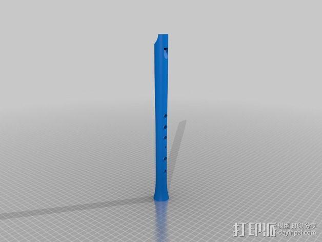 高,中,低音民谣口哨 3D模型  图7