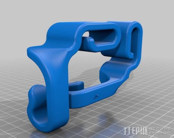 汽车椅背垃圾袋固定钩 3D模型  图5