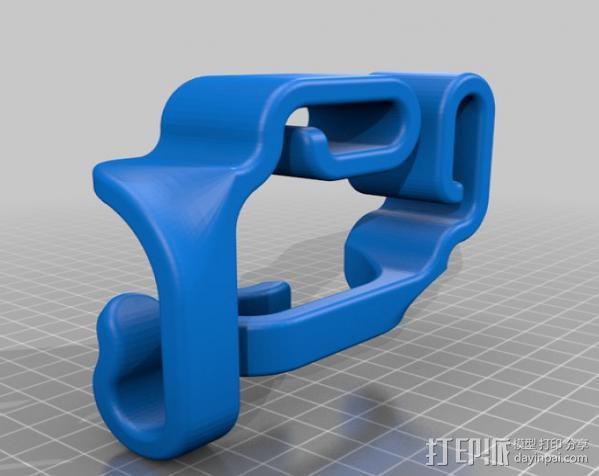 汽车椅背垃圾袋固定钩 3D模型  图6