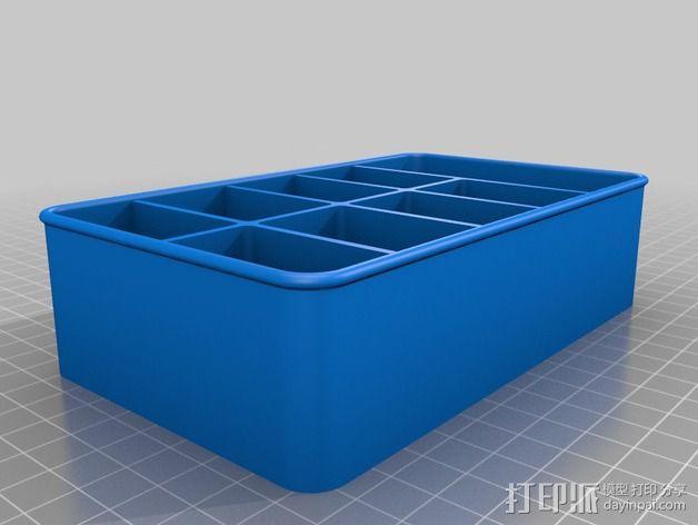 电子元件分隔槽 3D模型  图2