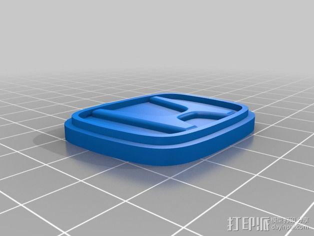 本田汽车钥匙扣 3D模型  图2