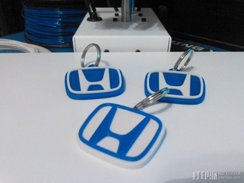 本田汽车钥匙扣 3D模型  图1