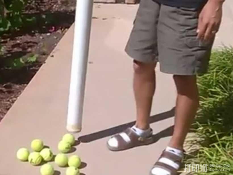 网球回收筒 3D模型  图1