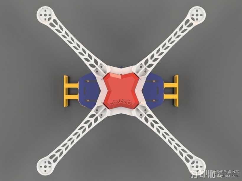 Mosquito V1 四轴飞行器 450机身 3D模型  图1