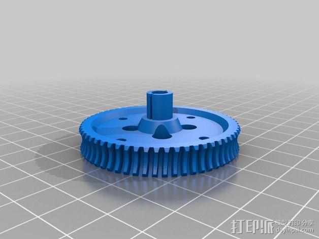 60齿涡轮 3D模型  图2