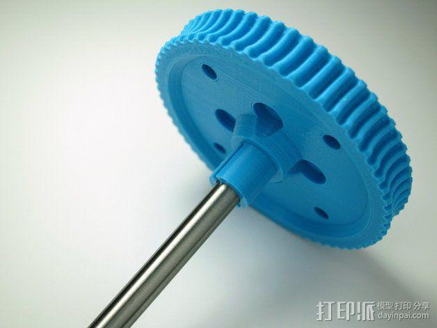60齿涡轮 3D模型  图1