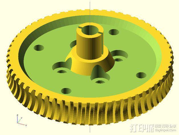 60齿涡轮 3D模型  图3
