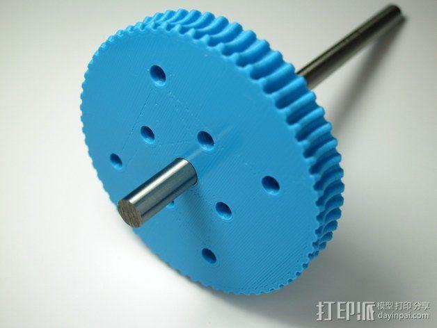 60齿涡轮 3D模型  图4