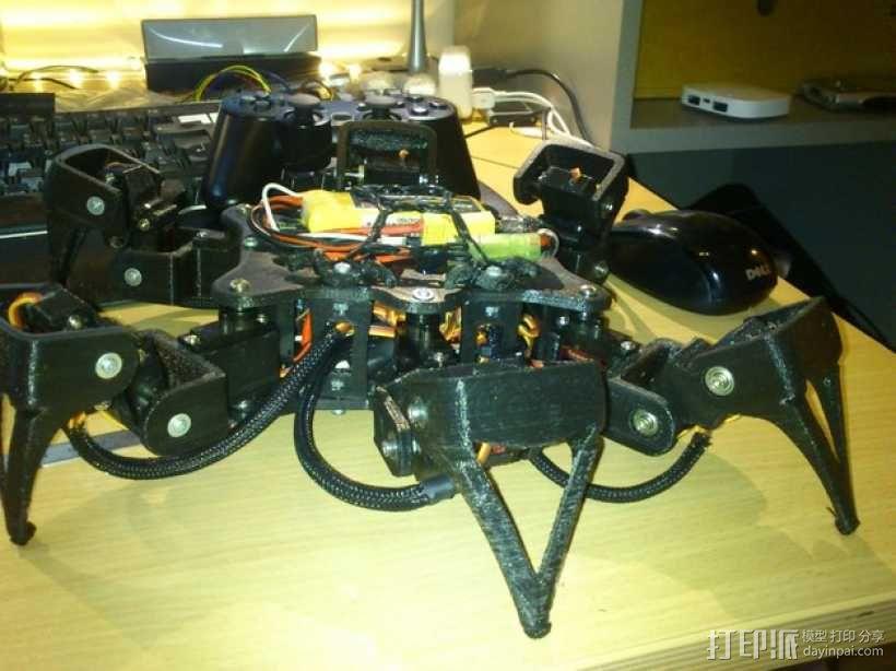 6自由度18号微动伺服 3D模型  图1