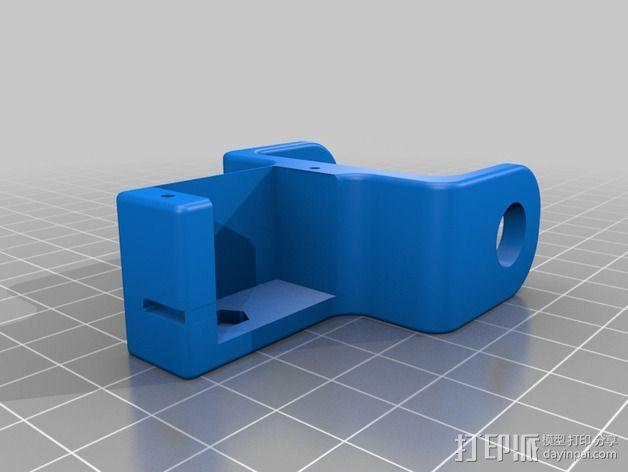 6自由度18号微动伺服 3D模型  图4