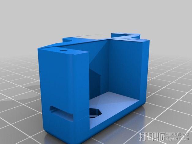 6自由度18号微动伺服 3D模型  图3