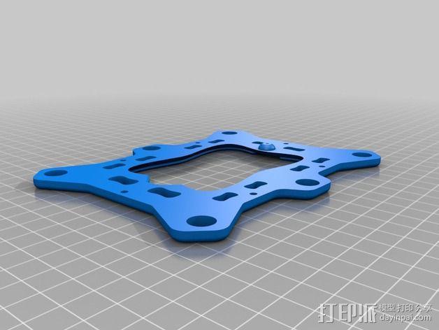 6自由度18号微动伺服 3D模型  图6
