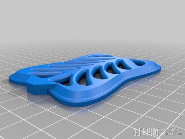 6自由度18号微动伺服 3D模型  图7