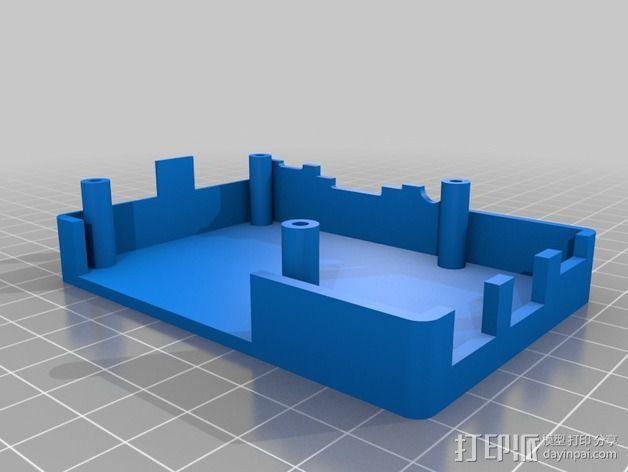 树莓派 B+外壳 3D模型  图2