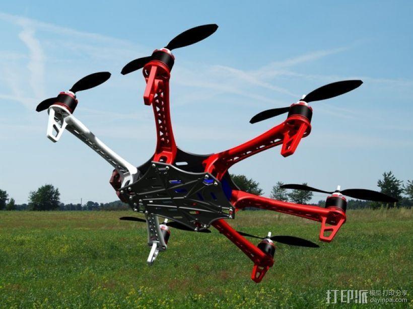 Spyda 500 六轴飞行器 3D模型  图1