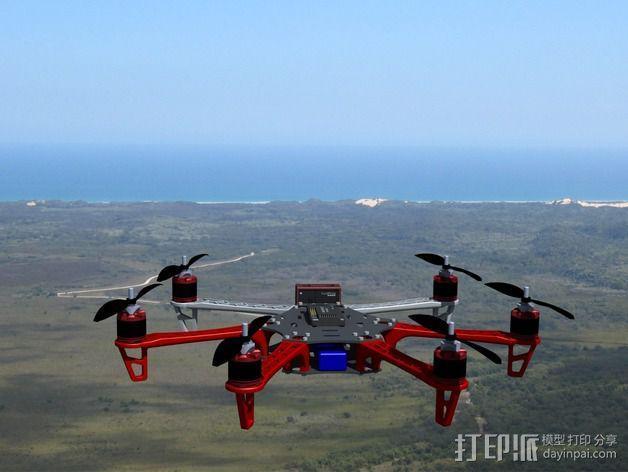 Spyda 500 六轴飞行器 3D模型  图2