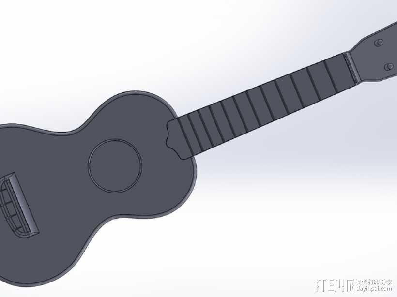 小清新必备——高音尤克里里 3D模型  图13