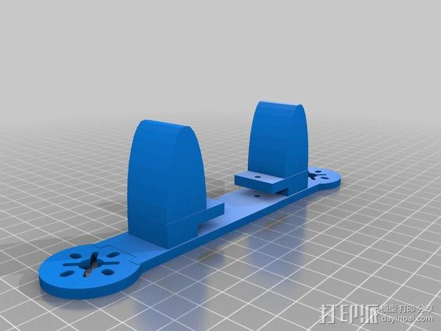 195mm简易迷你飞行器 3D模型  图1