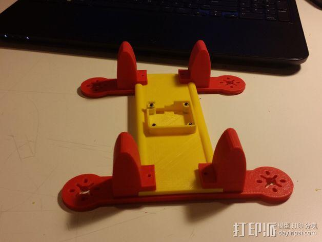 195mm简易迷你飞行器 3D模型  图7