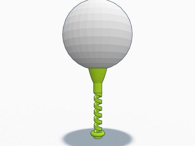 弹性高尔夫球支架 3D模型  图2
