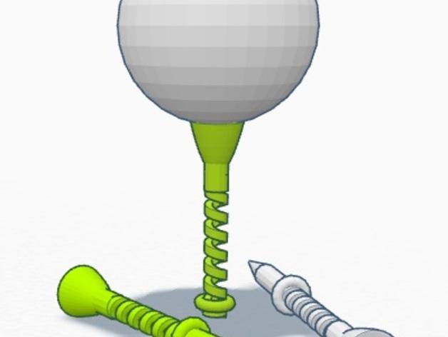 弹性高尔夫球支架 3D模型  图4