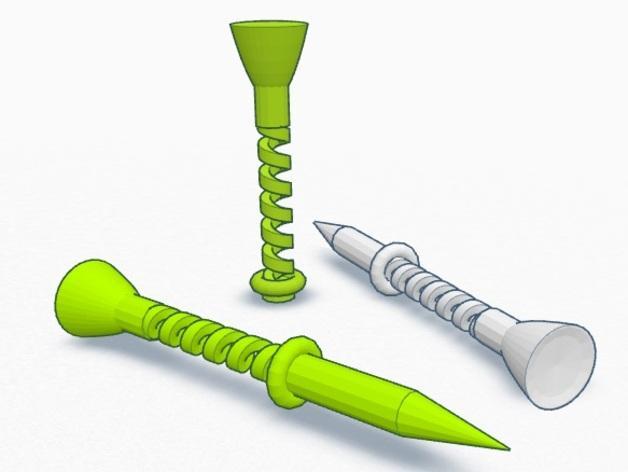弹性高尔夫球支架 3D模型  图6