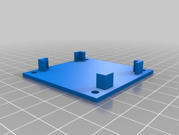 DJI Naza固定槽 3D模型  图5