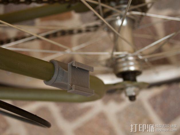 Graziella自行车尾车灯固定夹 3D模型  图4