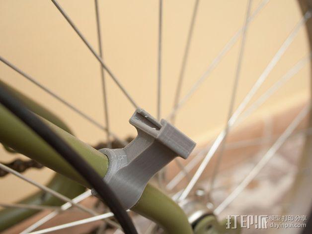 Graziella自行车尾车灯固定夹 3D模型  图3