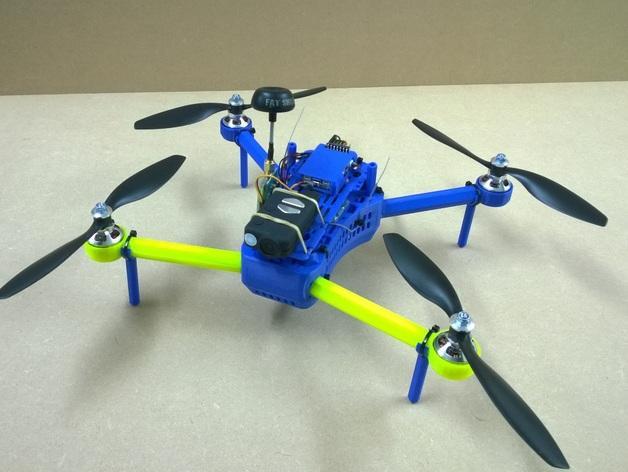 T型飞行器迷你支架腿 3D模型  图1