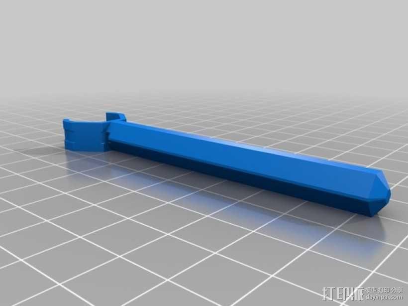 T型飞行器迷你支架腿 3D模型  图3