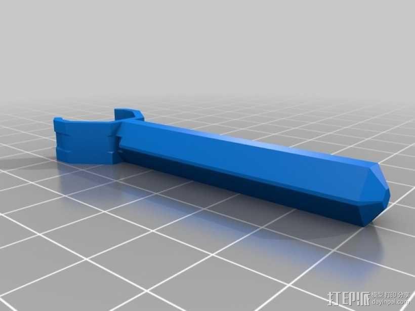 T型飞行器迷你支架腿 3D模型  图4