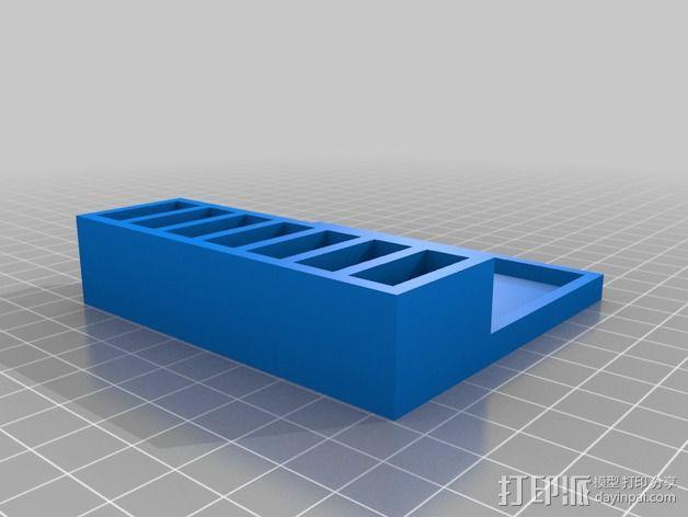 Hubsan X4 四轴飞行器的定制带线电池盒 3D模型  图2
