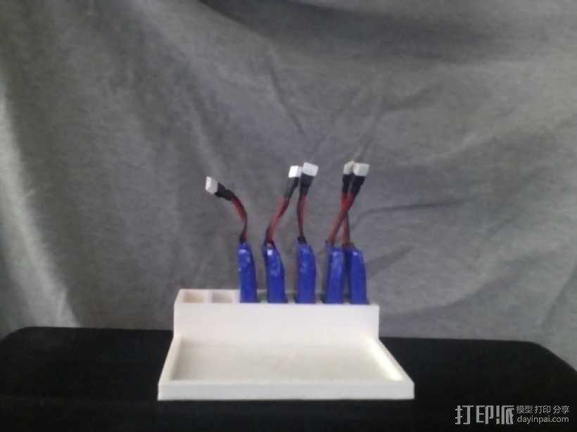 Hubsan X4 四轴飞行器的定制带线电池盒 3D模型  图1