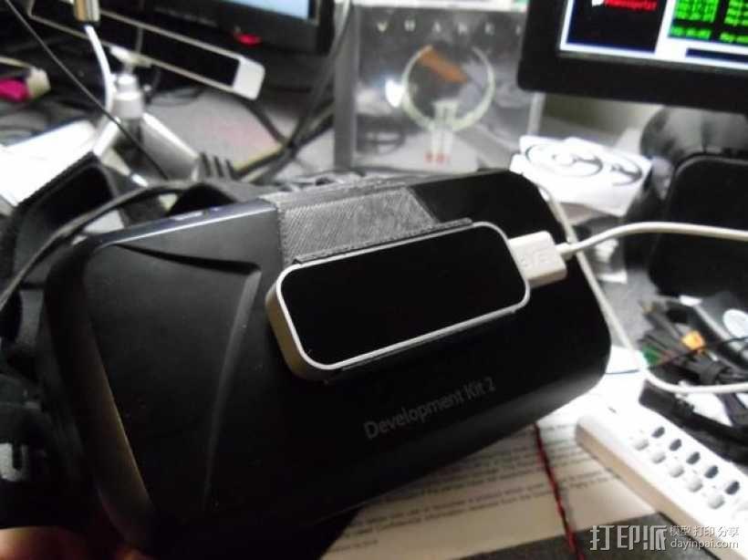 Oculus Rift DK2 固定适配器 3D模型  图1