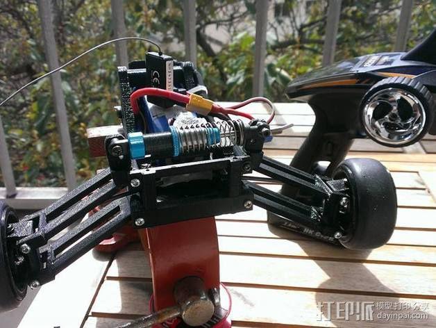 RC 三轮小车 3D模型  图2