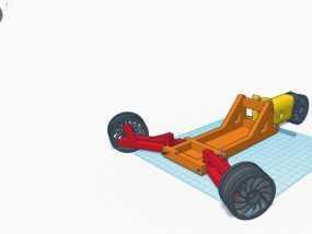 RC 三轮小车 3D模型